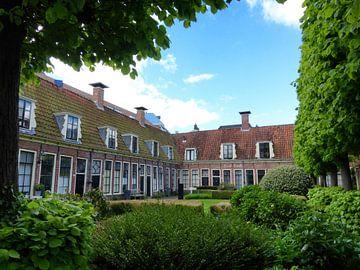 het hofje Pepergasthuis in Groningen van