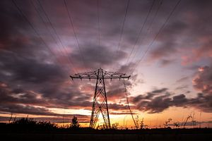 Electrifying sunset van