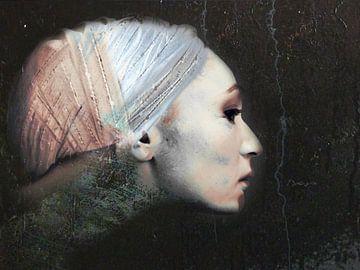 20. silhouet, portret, vrouw, Classic. von Alies werk