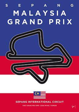 My F1 SEPANG Race Track Minimal Poster van Chungkong Art