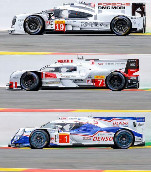 Porsche 919 Hybrid, Audi R18 e-tron quattro and Toyota TS 040 - Hybrid