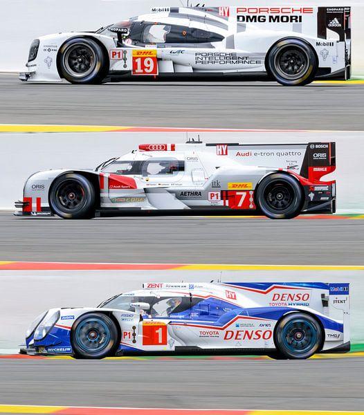 Porsche 919 Hybrid, Audi R18 e-tron quattro and Toyota TS 040 - Hybrid  van Sjoerd van der Wal