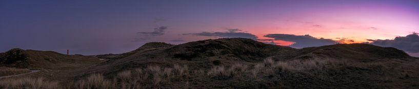 Zonsondergang panorama van Klaas Fidom
