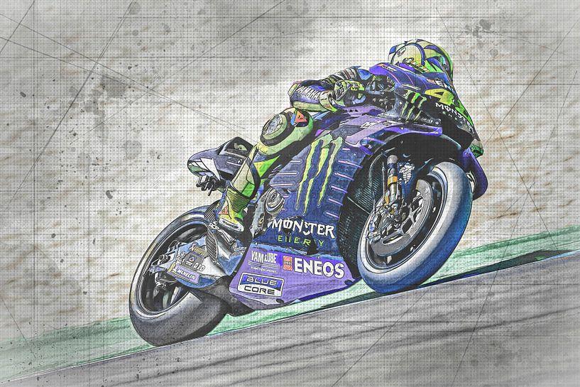 Valentino Rossi #46 Yamaha-Team von Theo Groote