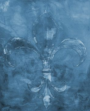 Abstracte achtergrond: Franse Lelie von Sigrid Klop