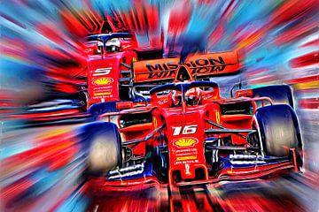 Italian Power - Leclerc versus Vettel van Jean-Louis Glineur alias DeVerviers