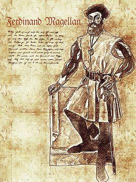 Ferdinand Magellan van Printed Artings