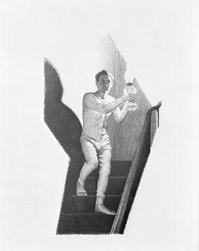 Grant Wood, Die Treppe hinunter, 1939
