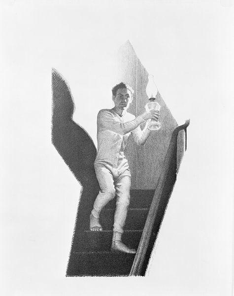 Grant Wood, Die Treppe hinunter, 1939 von Atelier Liesjes