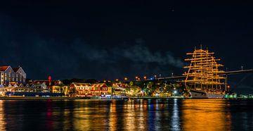 Willemstad bei Nacht von Marjon Boerman