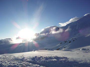 Sneeuwlandschap met felle zon von Dempsey Cappelle