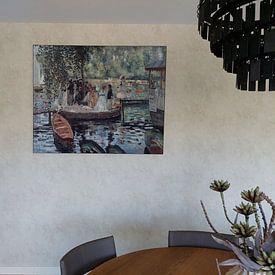 Klantfoto: Auguste Renoir. La Grenouillère, als print op doek