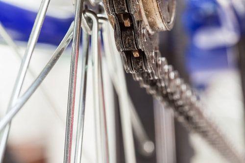 Ketting en tandwiel van fiets van Marcel Derweduwen
