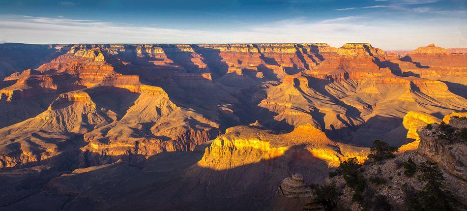 Gouden avondlicht over de Grand Canyon, VS