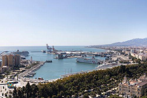 Aperçu du port de Malaga en Espagne