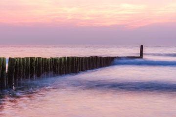 Zonsondergang strand Cadzand-Bad van Ellen Driesse