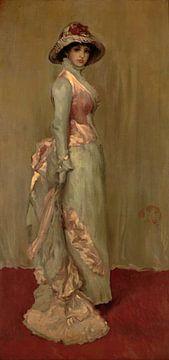 Harmonie in Roze en Grijs: Lady Meux, James Abbott McNeill Whistler. (gezien bij vtwonen)