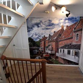 Klantfoto: Hangende keukens Appingedam van Michel Leertouwer, als naadloos behang