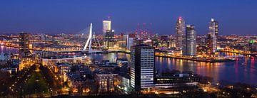 Skyline Rotterdam van Vincent van Kooten