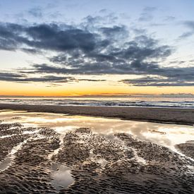 Winterzon op het strand van Jaap Spaans