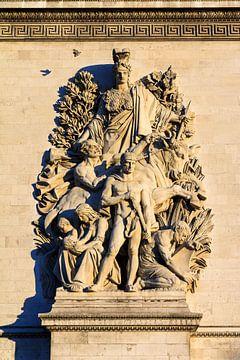 Arc de Triomphe Detail mit Taube von Dennis van de Water