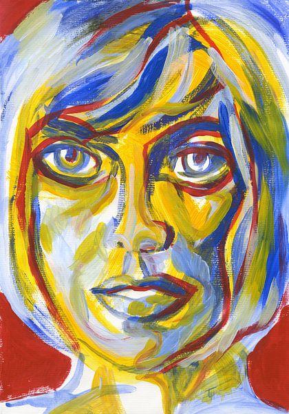 Mondriaan vrouw van ART Eva Maria