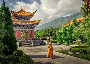 Ein farbenfroher Tempel in Dali (China). von Claudio Duarte