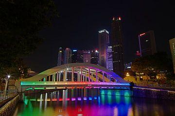 Brücke über den Singapur-Fluss von Martin de Hoog