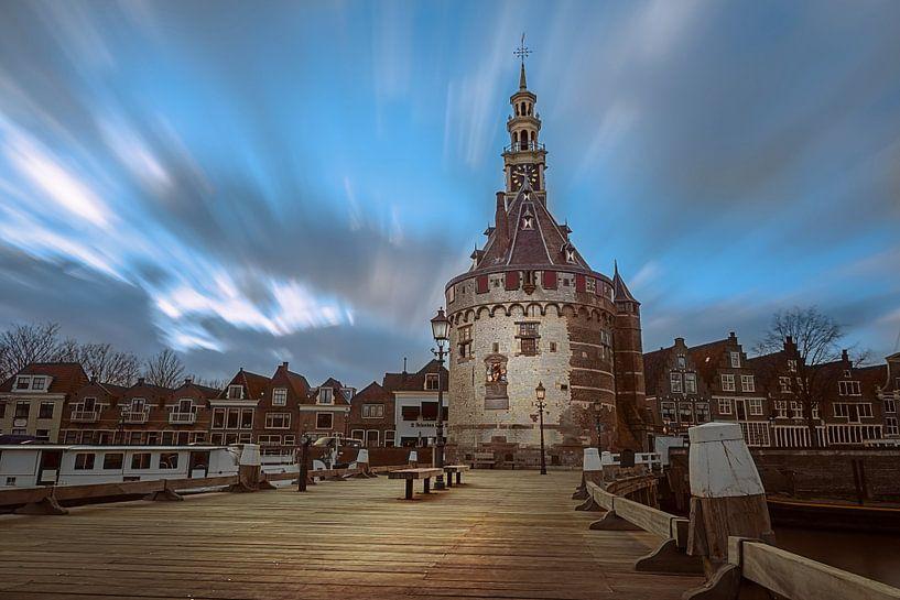 De hoofdtoren in Hoorn Noord-Holland van Costas Ganasos