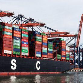 Containerschip Rotterdam van Irene Hoekstra