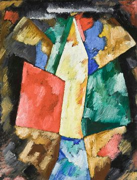 Abstractie: Blauw, geel en groen, Marsden Hartley