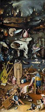Jeroen Bosch. Tuin der Lusten - de Hel, 1490 van