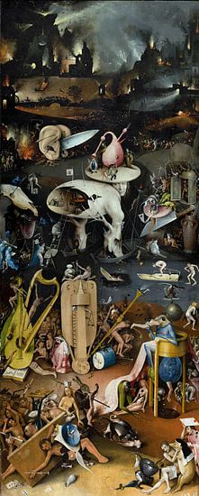 Jeroen Bosch. Tuin der Lusten - de Hel, 1490 van 1000 Schilderijen