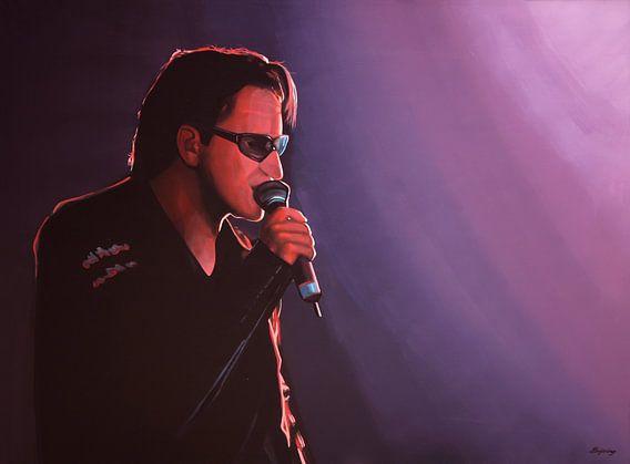 Bono van U2 schilderij van Paul Meijering