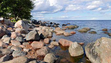Große Felsbrocken an der Küste bei Kasmu in Estland von Gert Bunt