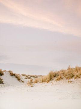 Die Dünen von Ameland | Bunte pastellfarbene Strandfotografie von Raisa Zwart