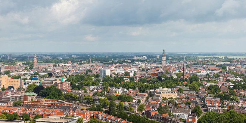 Panorama Groningen (binnenstad) van Frenk Volt