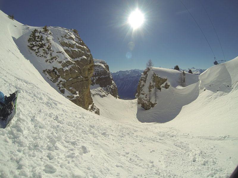 Freeride in Crans-Montana, Zwitserland sur Maartje Abrahams