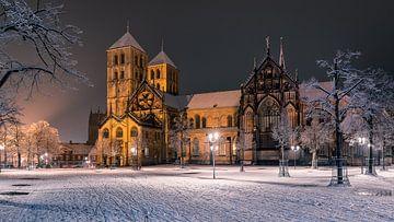 St. Paul's Cathedral in de sneeuw van Steffen Peters