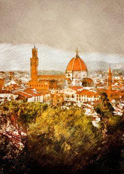 Italië Firenze landschap #firenze van JBJart Justyna Jaszke