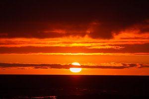 Zonsondergang op IJsland