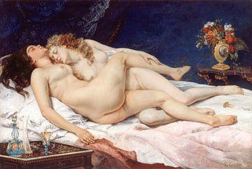 Zwei schlafende Mädchen - 1866 von Atelier Liesjes
