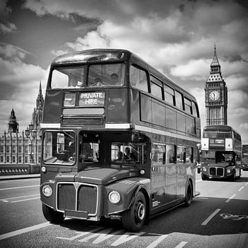 LONDON Classical Streetscene van Melanie Viola