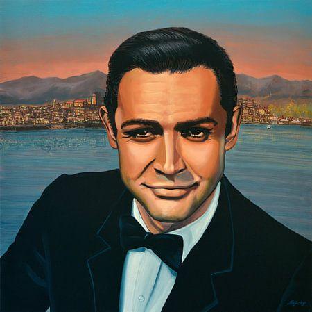 Sean Connery as James Bond schilderij van Paul Meijering