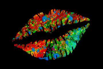 Multi-colour lips von Fred Odle