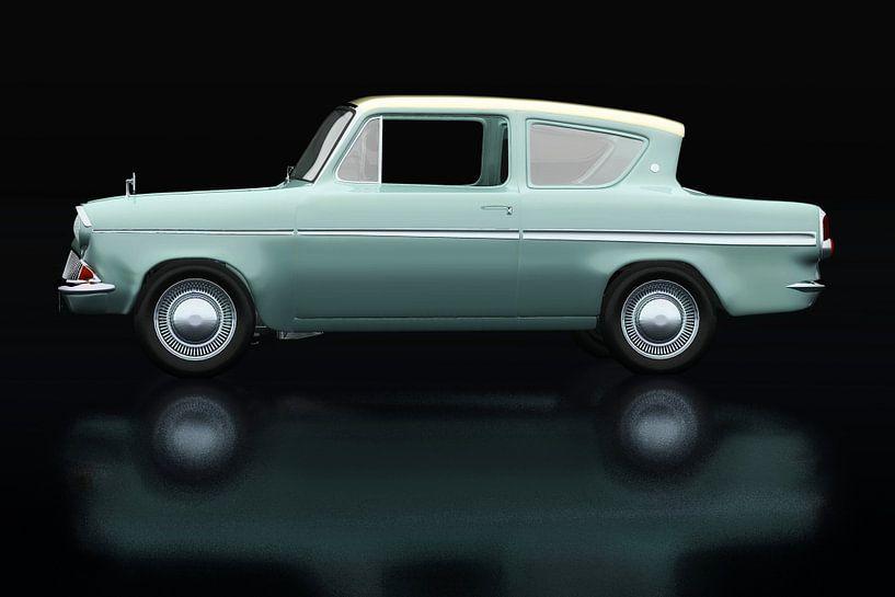 Ford Anglia 123E Deluxe Zijaanzicht van Jan Keteleer
