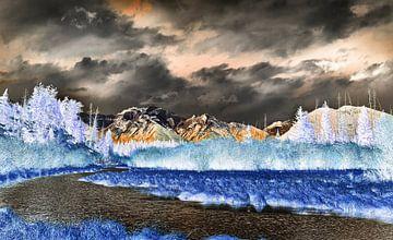 Der Berg Girouard über Zinnoberrot von Graham Forrester