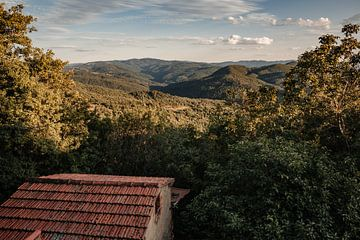 Blick über die Landschaft der Toskana von Anouk Strijbos