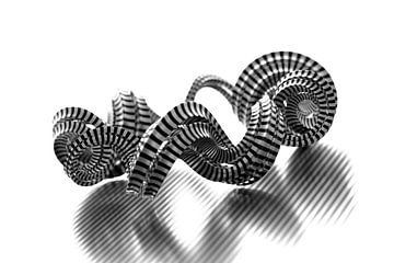 Abstract Stripe Swirl van Jörg Hausmann