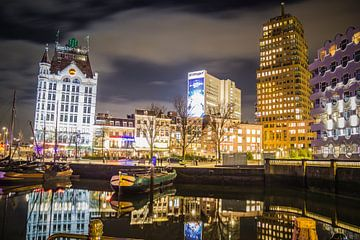 Rotterdam bei Nacht - Alter Hafen von Suzan van Pelt